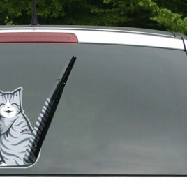 3D Cat Car Decal Sticker For The Rear Window Wiper