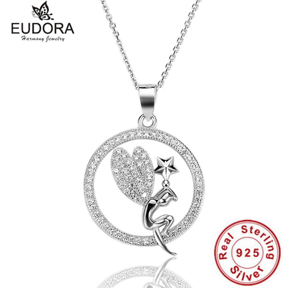 100 925 sterling silver crystal round angel pendant necklace 100 925 sterling silver crystal round angel pendant necklace aloadofball Images