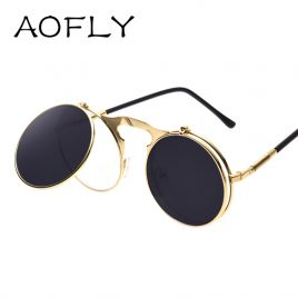 Vintage Steampunk Classic Round Sunglasses