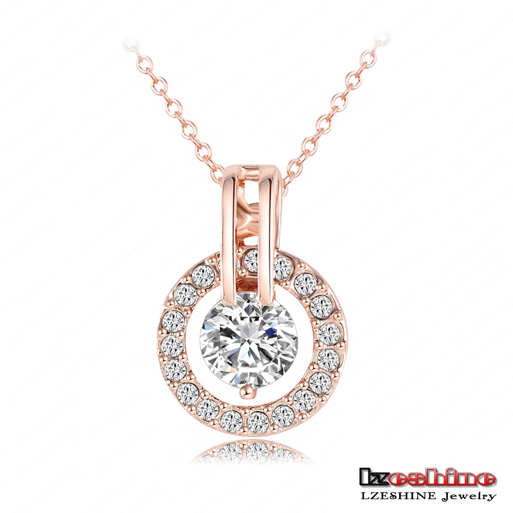18K Rose Gold Plated Necklace And Earring Sets Cute Little Kawaii