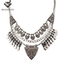 Vintage Carving Alloy Choker Necklaces Pendent