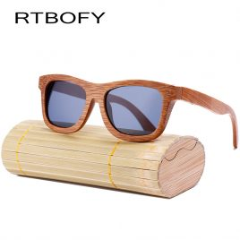 RTBOFY Brand Unisex Sunglasses In Wooden Frame