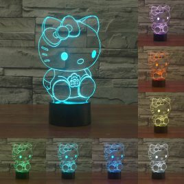 Hello Kitty 3D LED Changing Lamp