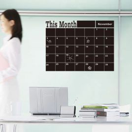 Monthly Planner Blackboard Removable Wall Sticker