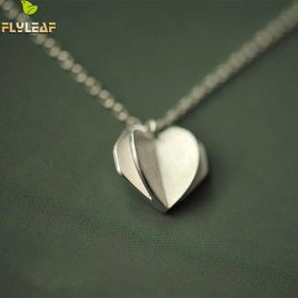 925 Sterling Silver Heart Shape Pendant Necklace