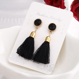 Tassel Black Retro Earrings