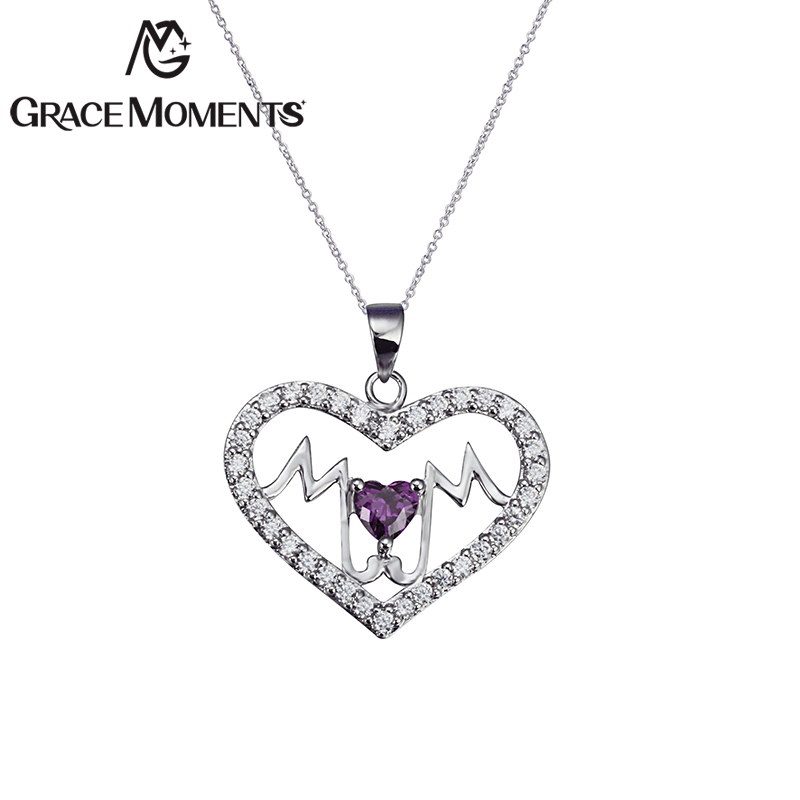 Grace Moments Crystal Mother's Day Heart Necklace