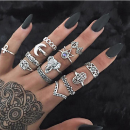 WLP Bohemia 13 Piece Ring Set