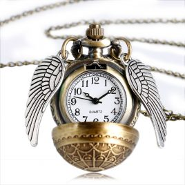 Vintage Pocket Watch Ball Shape  with Wing Full Hunter