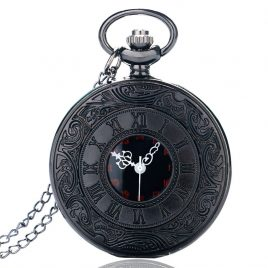 Vintage Look Quartz Pocket Watch With Roman Numbers