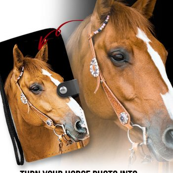 Horse Image On Wallet Phone Case