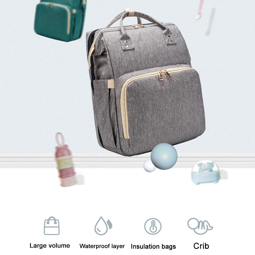 Baby Diaper Backpack With Bed